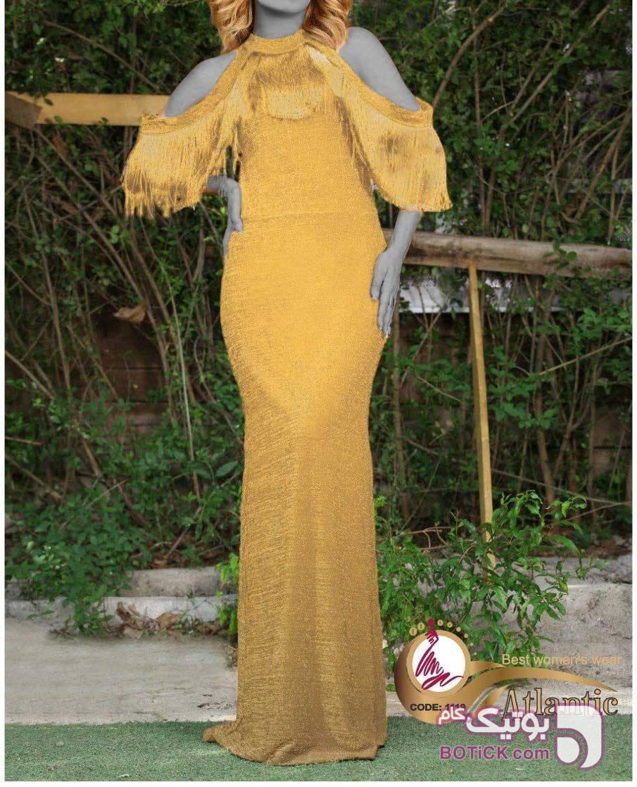مجلسی ماکسی  شیک کد : ۱۱۱۹ زرد لباس  مجلسی