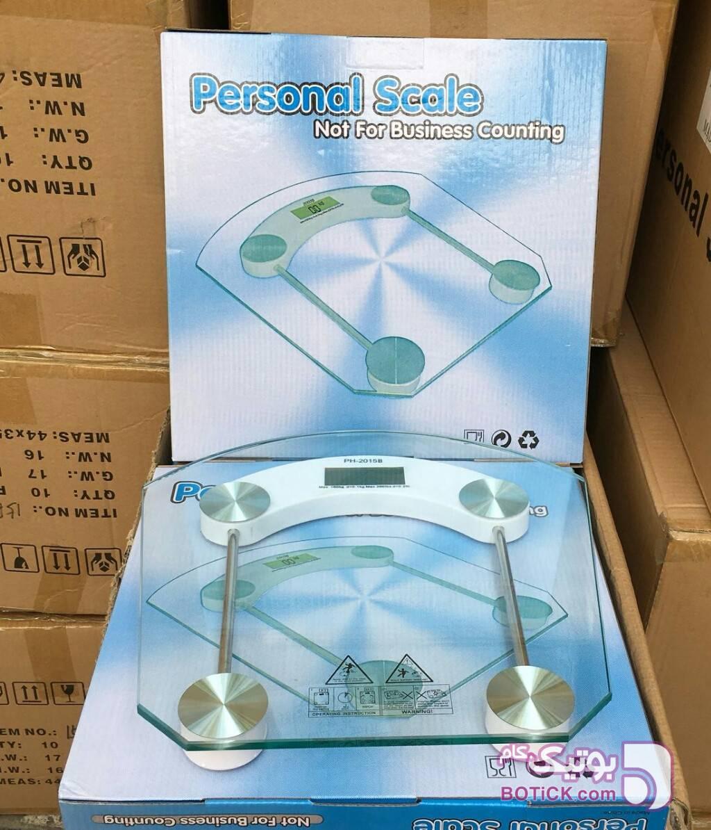 ترازو دیجیتالی شیشه ای وزن کشی سفید لوازم شخصی برقی