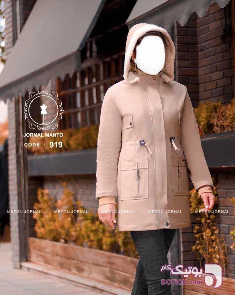 کد: ۹۱۹   کاپشن زمستانی ✳ سفید کاپشن و بارانی زنانه