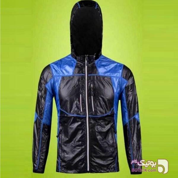 بادگیر ویندتکس کلاه دار  (ضدآب) آبی کاپشن و بارانی مردانه
