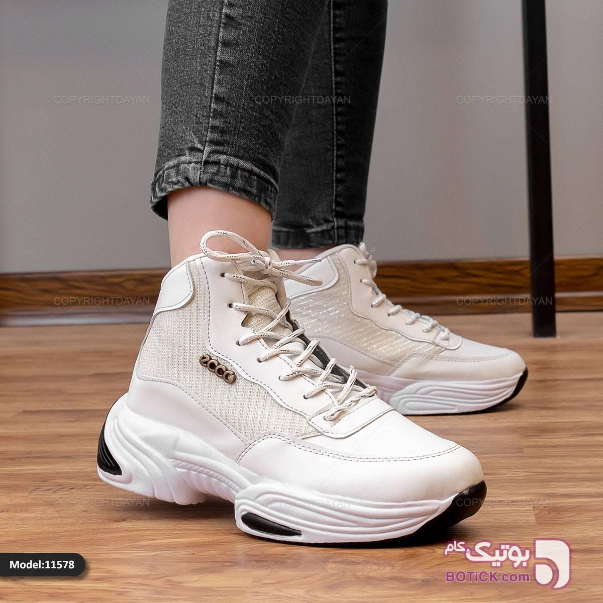کفش زنانه Ecco مدل 11578 مشکی كتانی زنانه