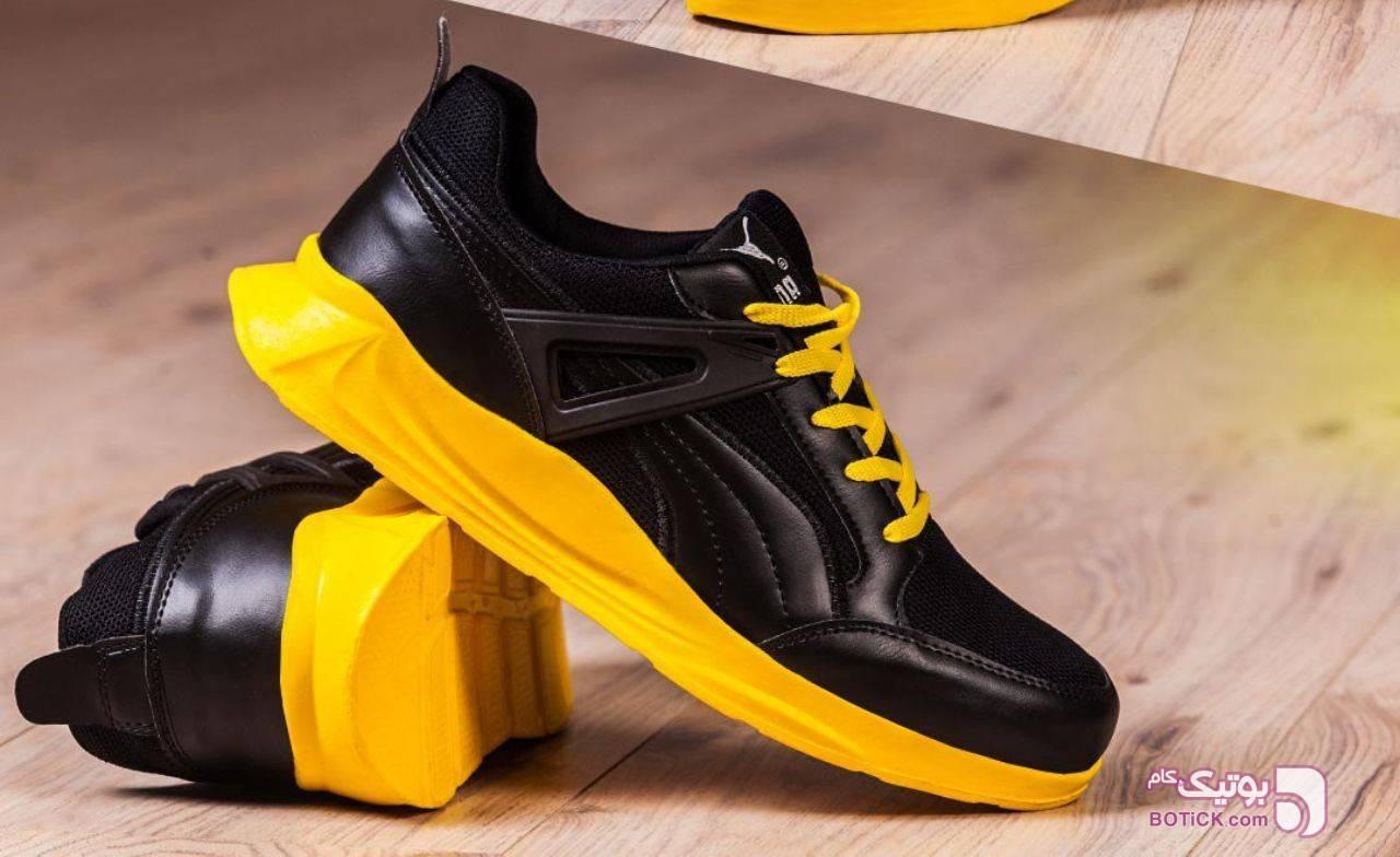 كفش مردانه Puma مدل Nilan زرد كتانی مردانه