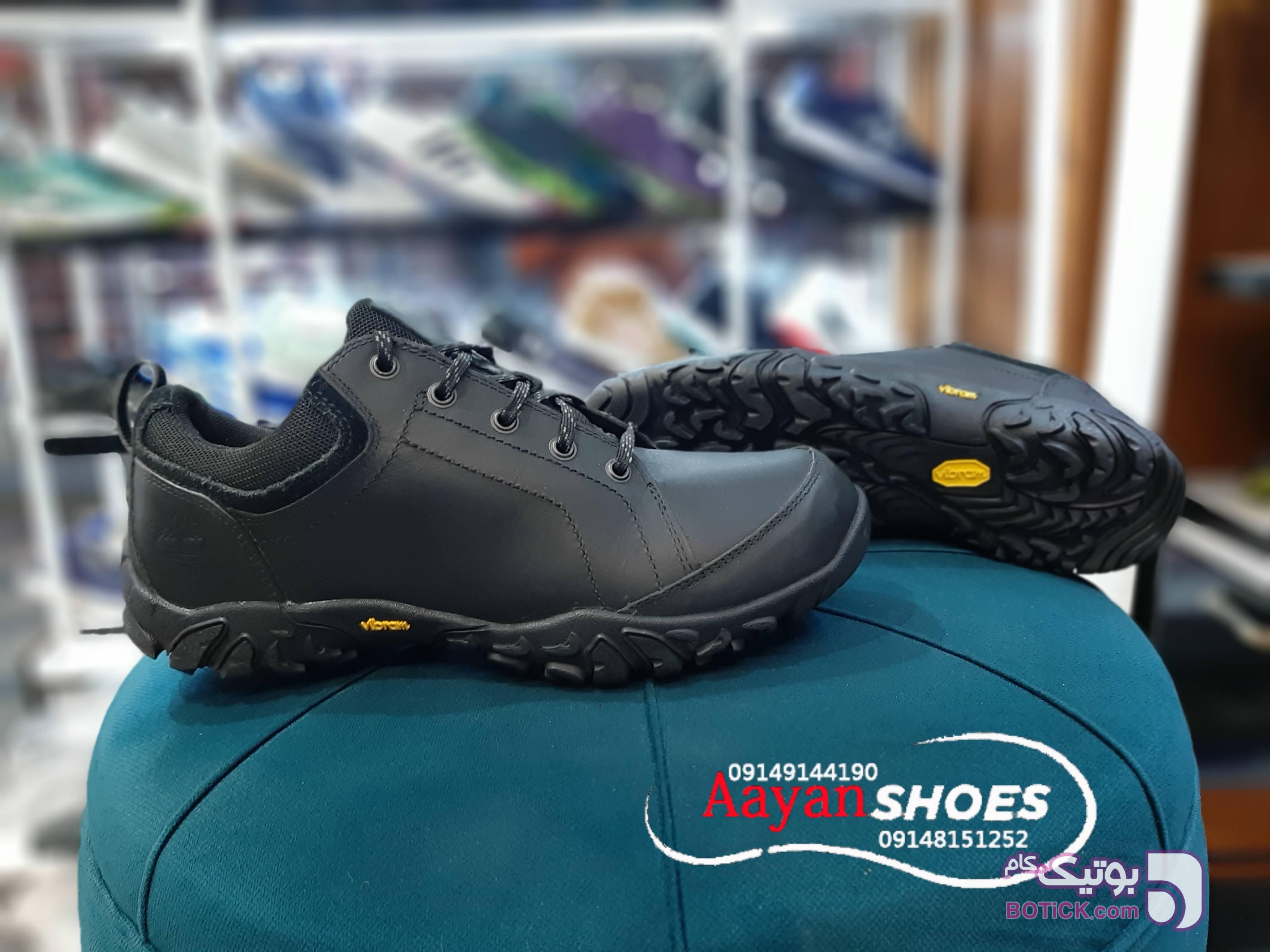 کفش چرمی اورجینال برند آمریکایی تیمبرلند مشکی كتانی مردانه