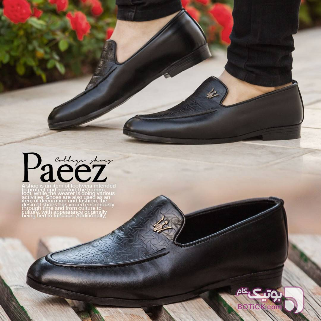 کفش مجلسی مردانه مدل Paeez مشکی كفش مردانه