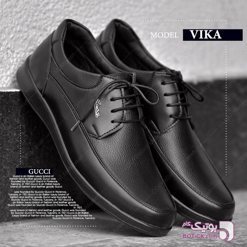 کفش مردانه vika مشکی كفش مردانه