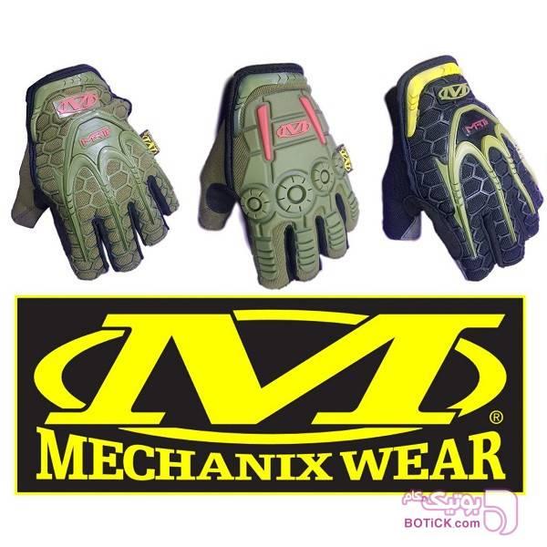 دستکش مولتی گارد مکانیکس MECHANIX MRT سبز کلاه بافت و شال گردن و دستکش