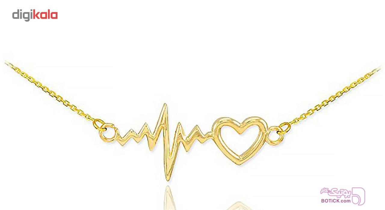گردنبند نقره ترمه مدل قلب و ضربان Termeh a24 نقره ای گردنبند