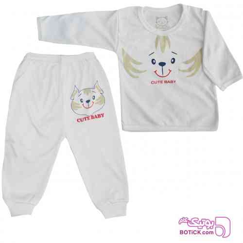 ست تیشرت و شلوار نوزاد کد SHTBC001 - لباس کودک پسرانه
