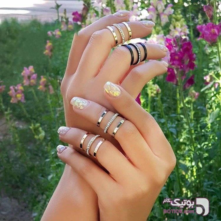 بند انگشتی مشکی انگشتر