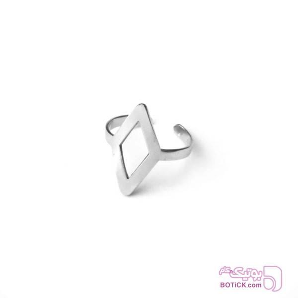 انگشتر استیل | R4  نقره ای انگشتر