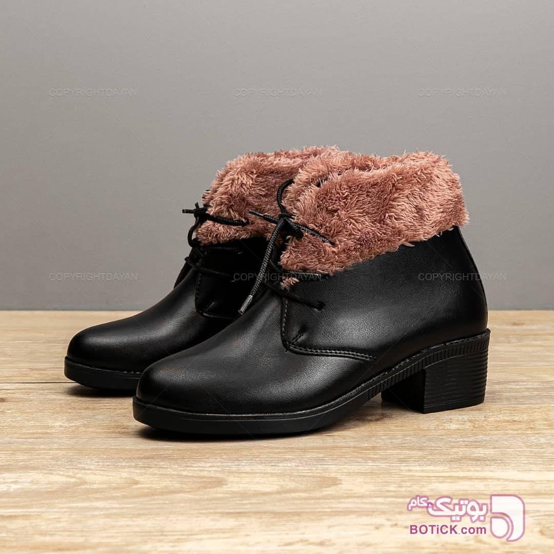 کفش نیم بوت کیانا نقره ای بوت زنانه