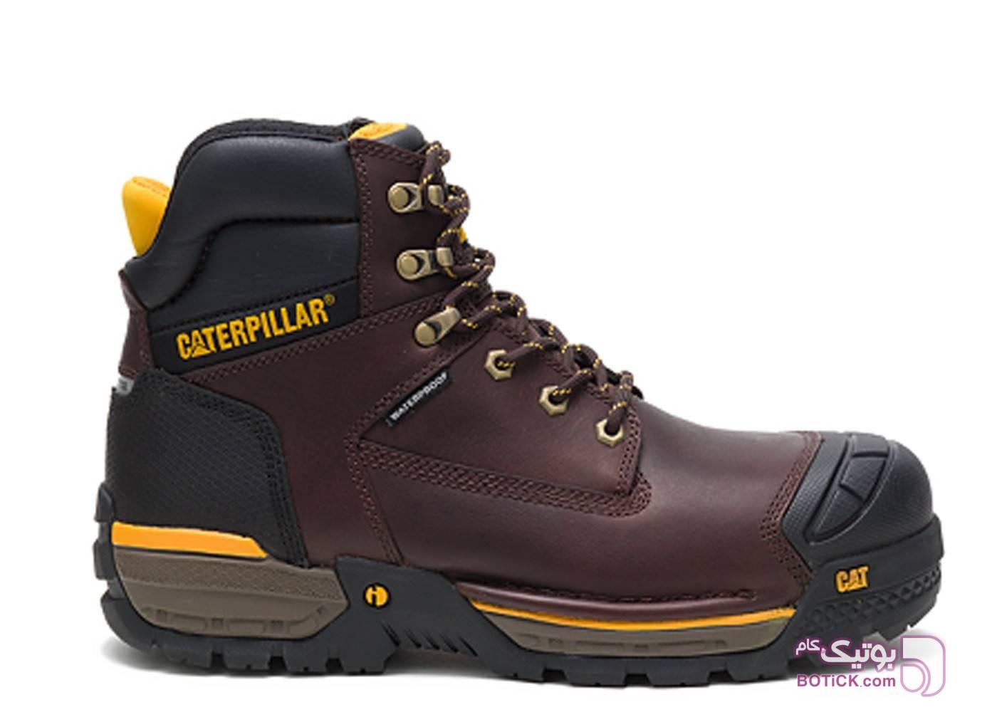 کفش ایمنی مامپوزیت مردانه کاترپیلار مدل caterpillar p91086 قهوه ای بوت مردانه