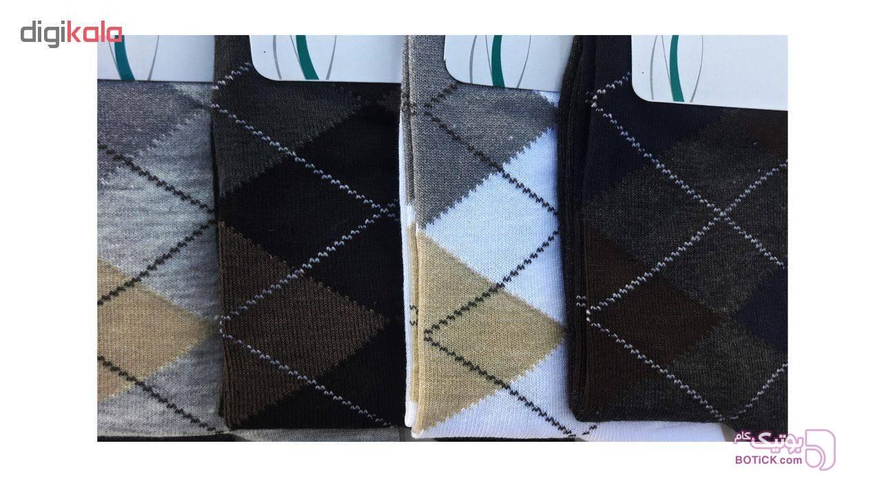 جوراب مردانه زند کد 26 مجموعه 6 عددی آبی جوراب و پاپوش