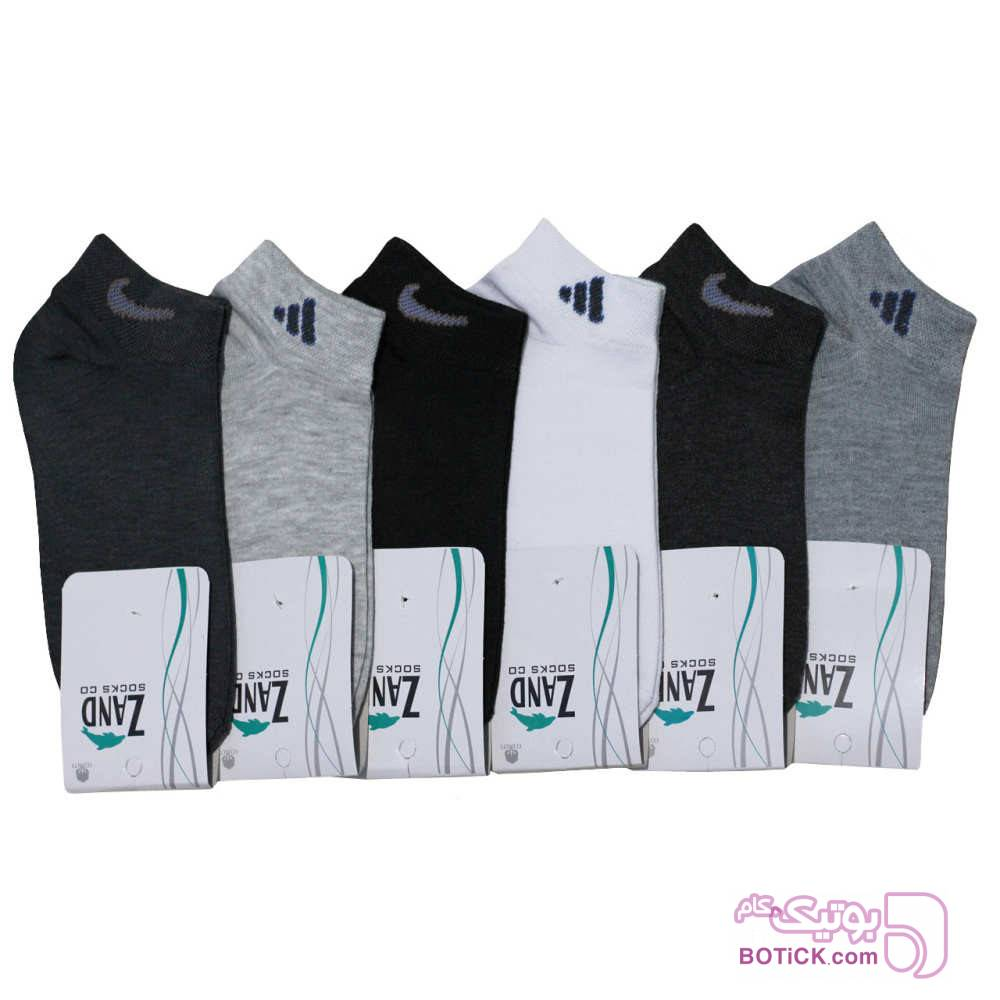 جوراب مردانه زند کد A 96 مجموعه 6 عددی مشکی جوراب و پاپوش
