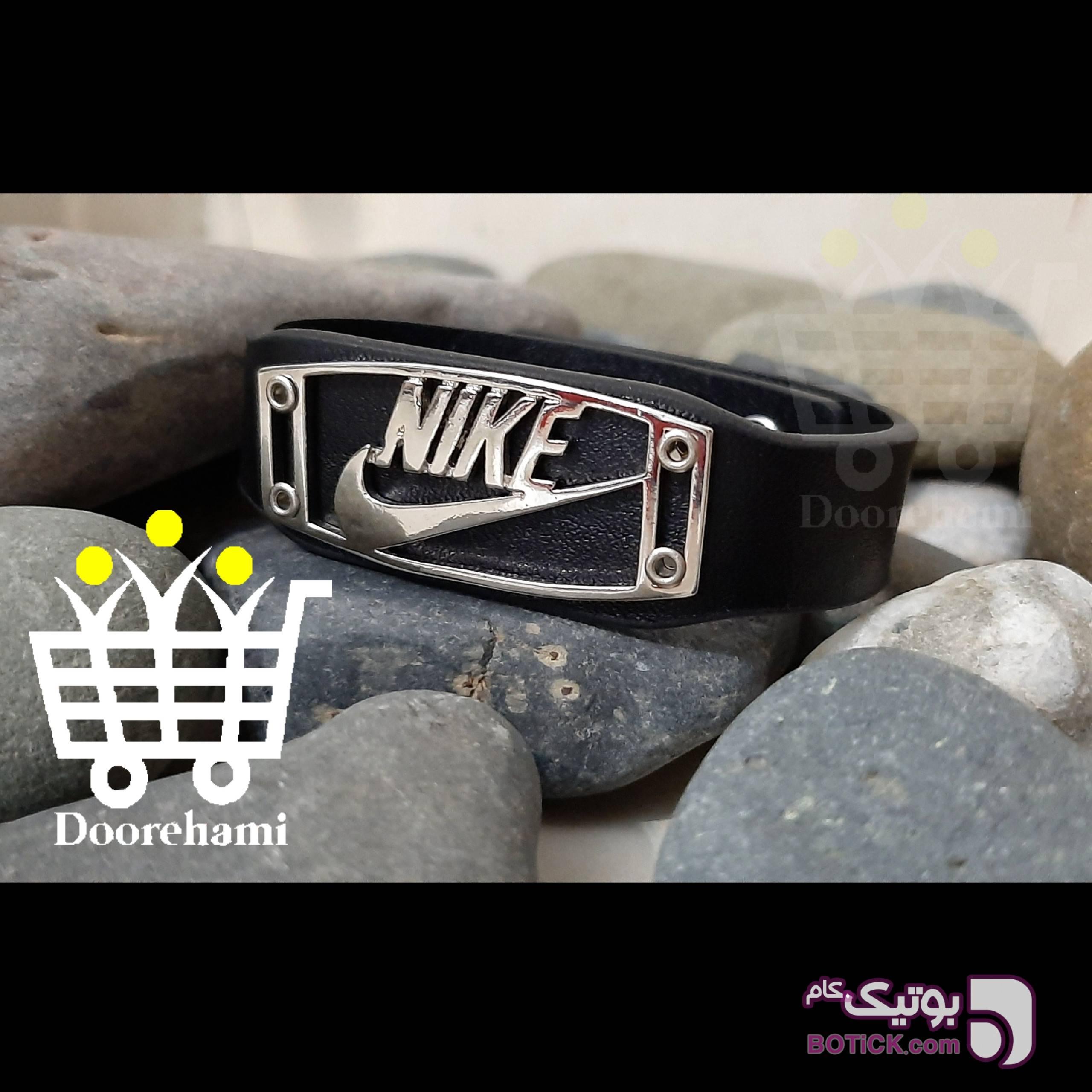 دستبند چرمی نایک نقره ای دستبند و پابند
