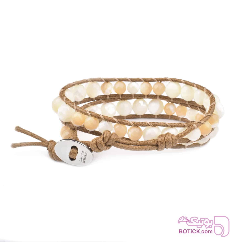 دستبند دورپیچ صدف | LM181  قهوه ای دستبند و پابند