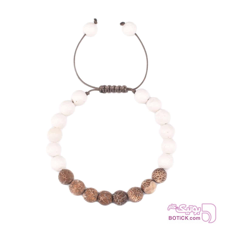 دستبند سنگ جاسپر | سنگ لاوا | LM76  قهوه ای دستبند و پابند