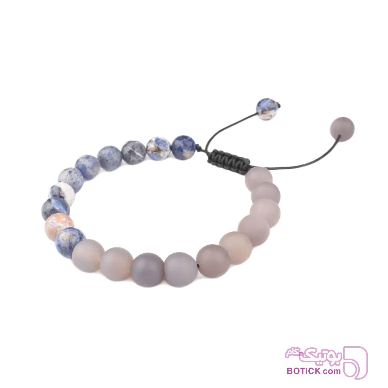 دستبند سنگ سودالیت | سنگ عقیق | LM188  آبی دستبند و پابند