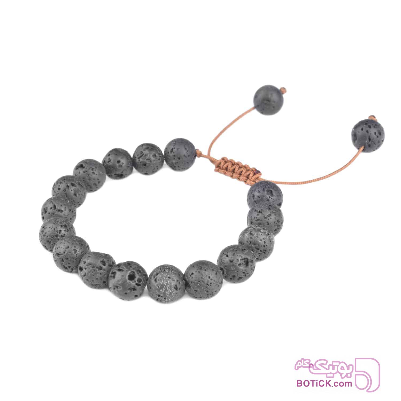 دستبند سنگ لاوا | LM213  طوسی دستبند و پابند