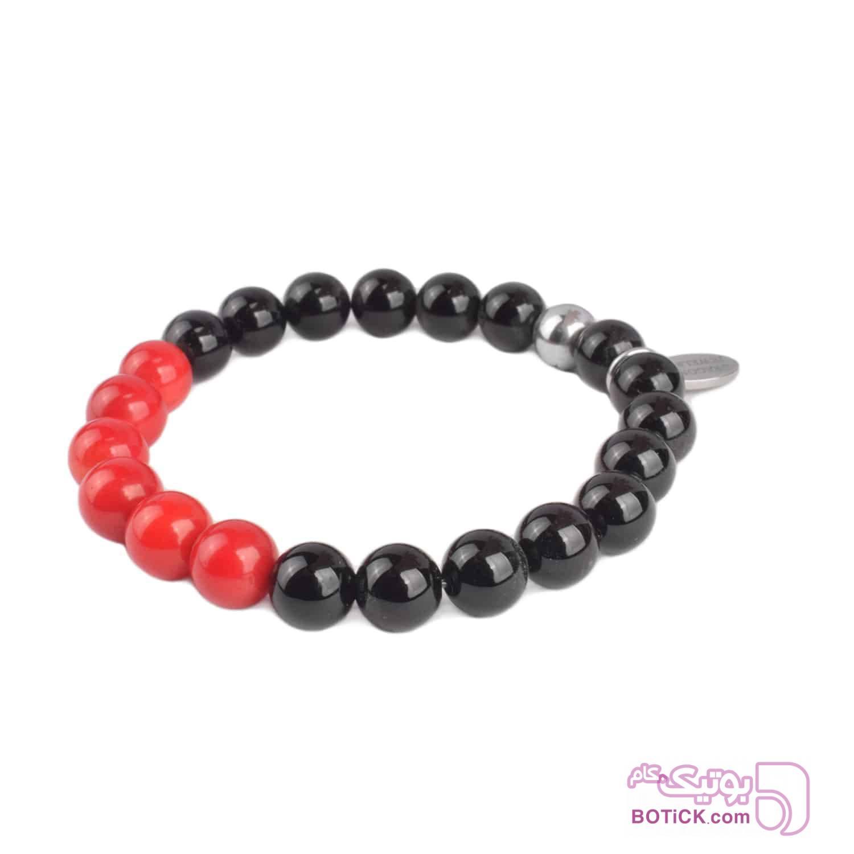 دستبند سنگ مرجان | سنگ اونیکس | LM206  قرمز دستبند و پابند