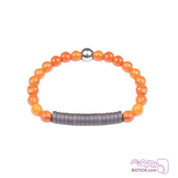 دستبند سنگ هماتیت | سنگ عقیق | DN144  نارنجی دستبند و پابند