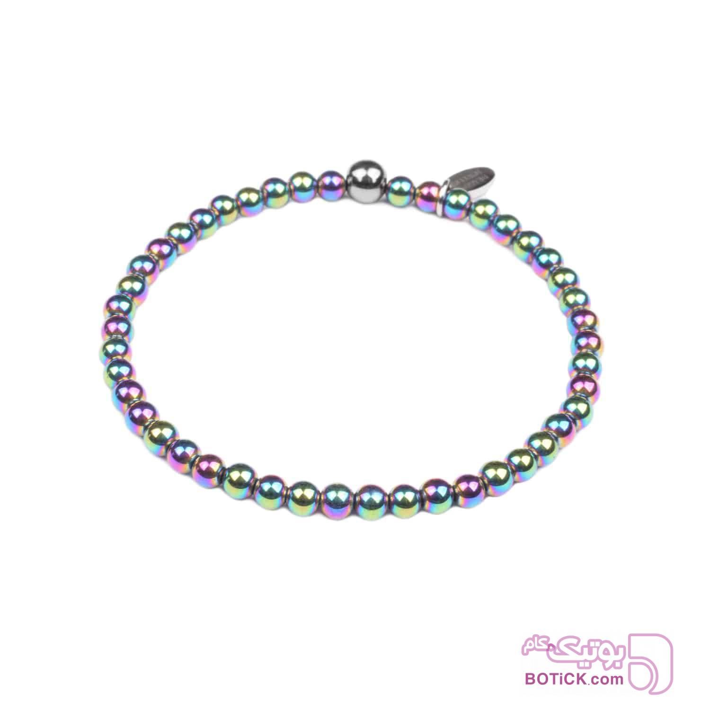 دستبند سنگ هماتیت | LM124  نقره ای دستبند و پابند
