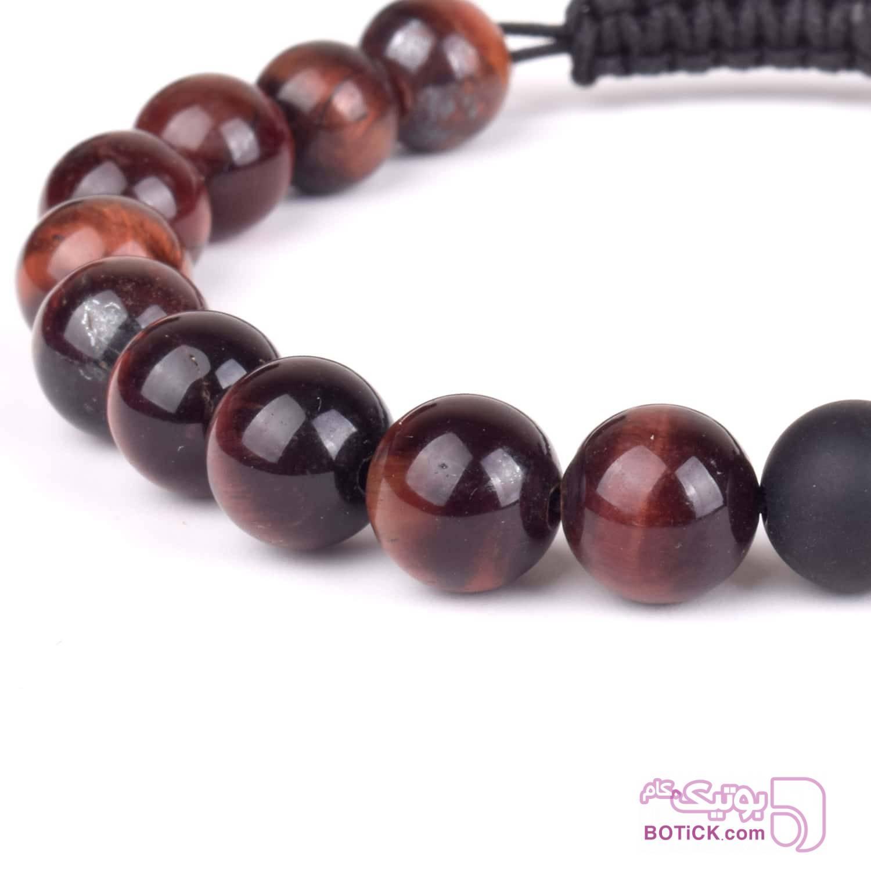 دستبند سنگ چشم ببر | سنگ اونیکس | BZ2  مشکی دستبند و پابند