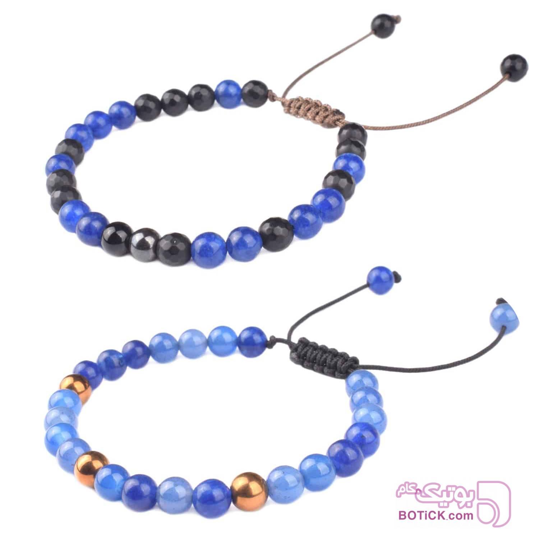 دستبند سنگ | LM176 | LM139  آبی دستبند و پابند
