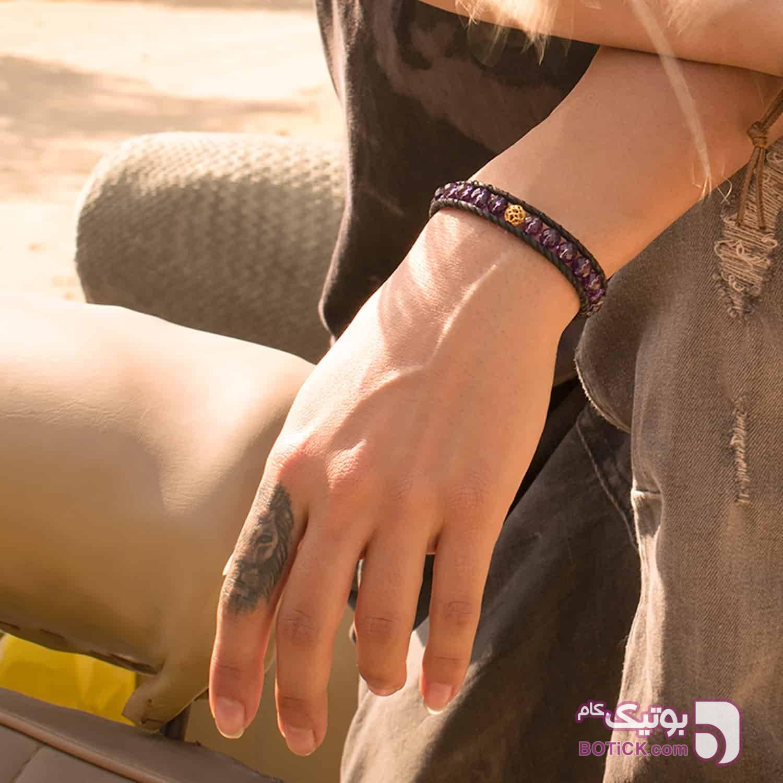 دستبند طلای | کریستال بنفش | WX55  بنفش دستبند و پابند