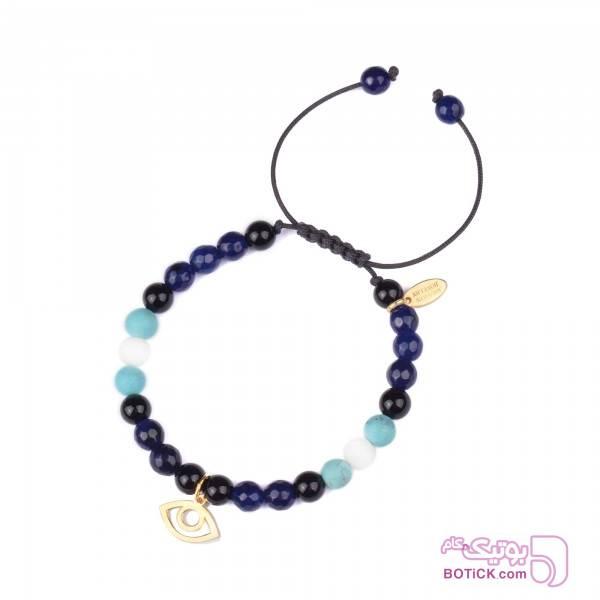 دستبند طلا | سنگ فیروزه | سنگ اوپال | BG3  مشکی دستبند و پابند
