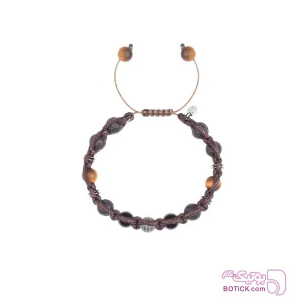 دستبند نقره   سنگ اونیکس   سنگ لاوا   MD1  مشکی دستبند و پابند