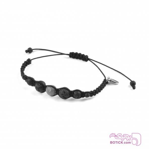 دستبند نقره | سنگ لاوا | SA22  مشکی دستبند و پابند