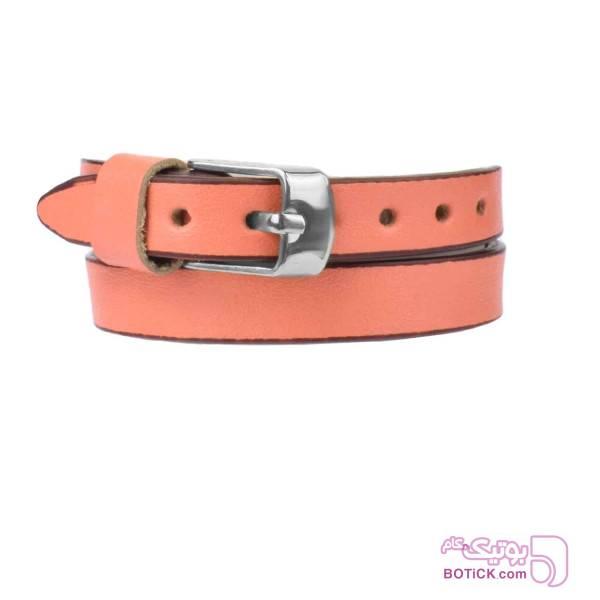 دستبند چرم صورتی کلاسیک | LT12  صورتی دستبند و پابند