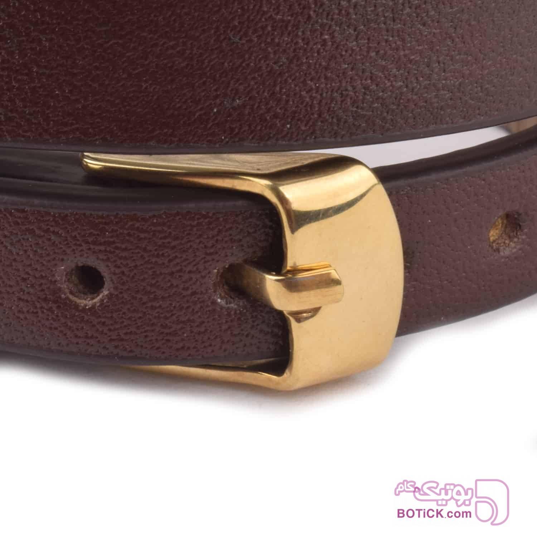 دستبند چرم قهوهای | طلا | SLT5  قهوه ای دستبند و پابند