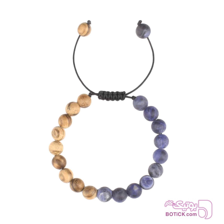 دستبند چوب | سنگ سودالیت | LM200  آبی دستبند و پابند