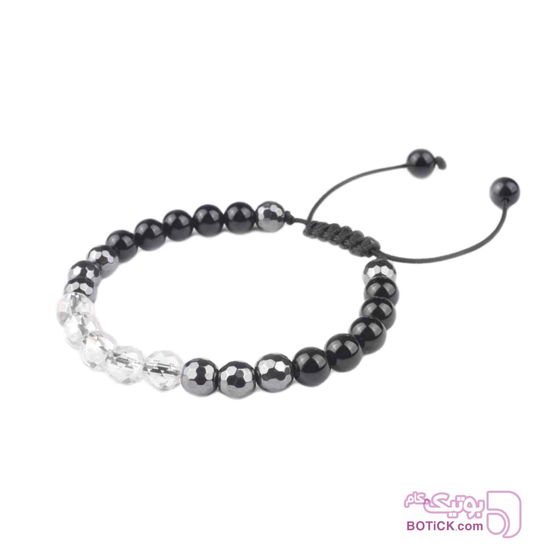 دستبند کریستال | سنگ اونیکس | سنگ هماتیت | LM85  مشکی دستبند و پابند