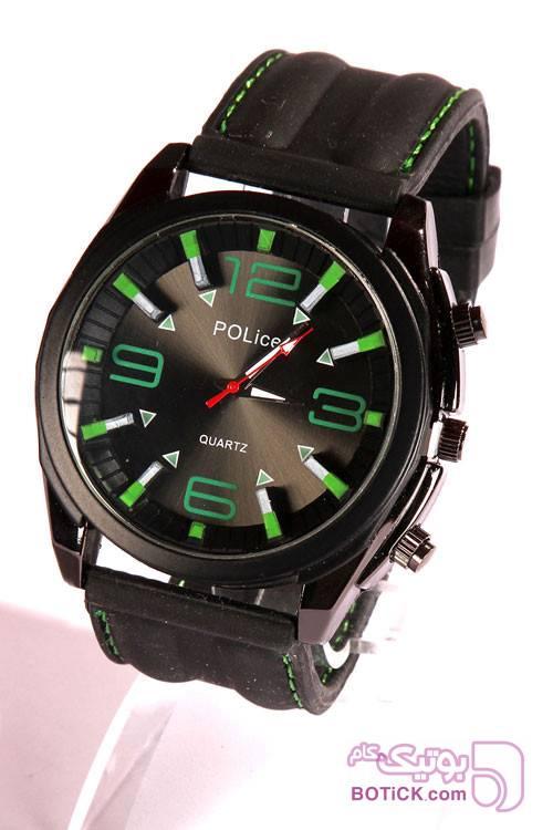 ساعت بند ژله ای طرح POLICE مدل 720 سبز ساعت