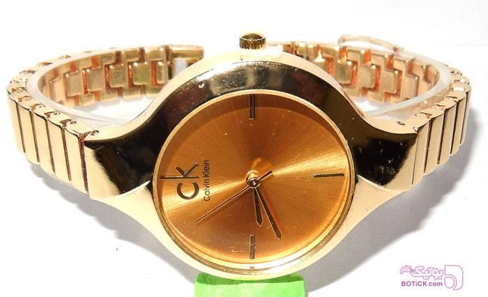 ساعت مچی زنانه ظریف CK مدل 2205 زرد ساعت