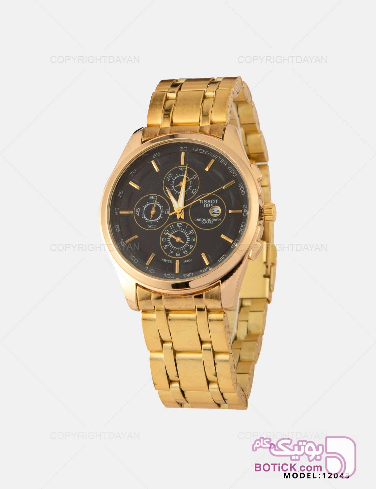 ساعت مچی مردانه Tissot مدل 12043 طلایی ساعت