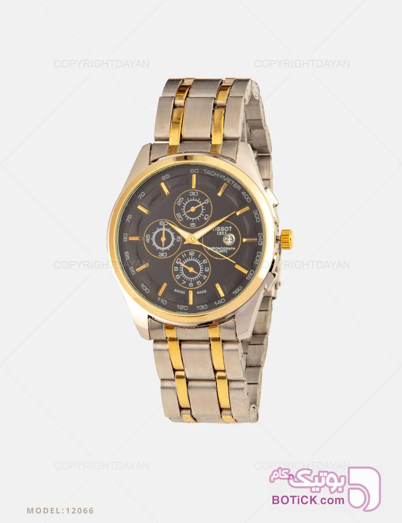 ساعت مچی مردانه Tissot مدل 12066 طلایی ساعت