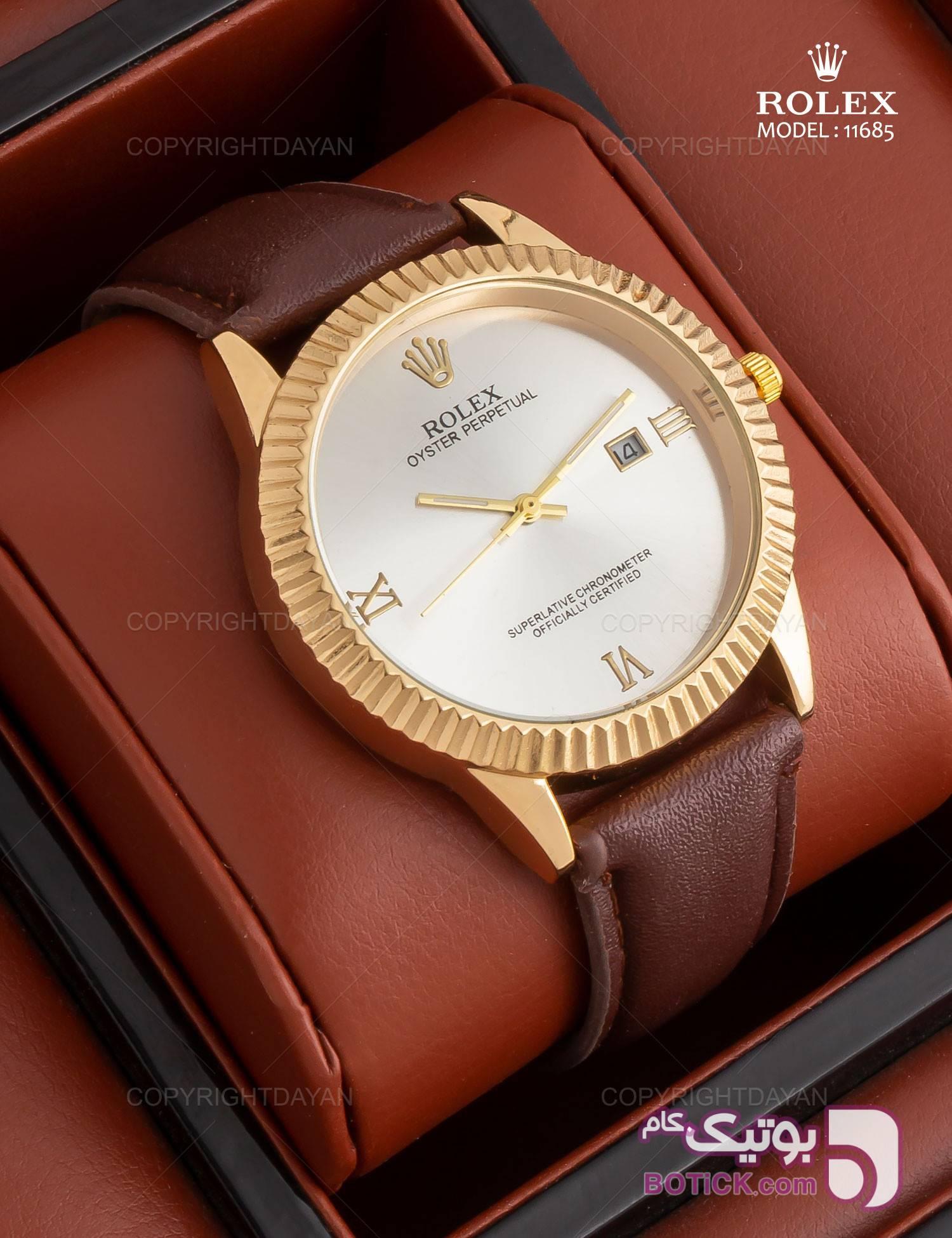 ساعت مچی Rolex مدل 11685 قهوه ای ساعت