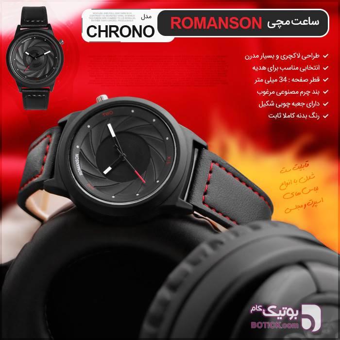 ساعت مچی Romanson مدل Chrono مشکی ساعت