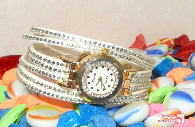 ساعت نگین دار والار سفید WALAR مدل 625 سفید ساعت