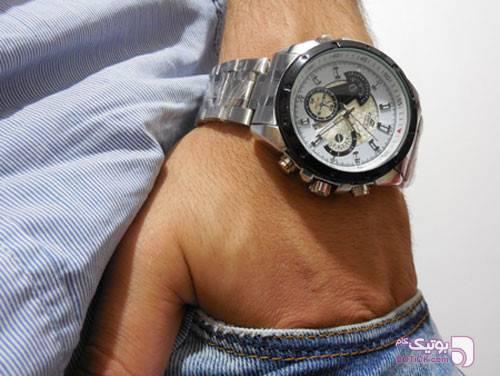 ساعت کاسیو ادیفایز بند استیل مشکی ساعت