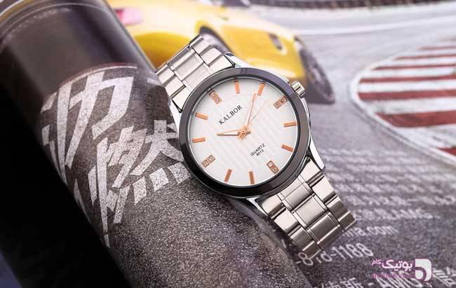 ساعت KALBOR مدل 6013 نقره ای ساعت