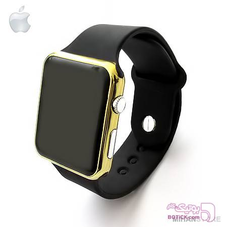ساعت LED طرح اپل واچ زرد ساعت