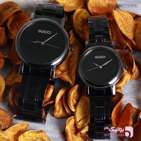 ست ساعت مچی Gucci طرح Luxx زرد ساعت
