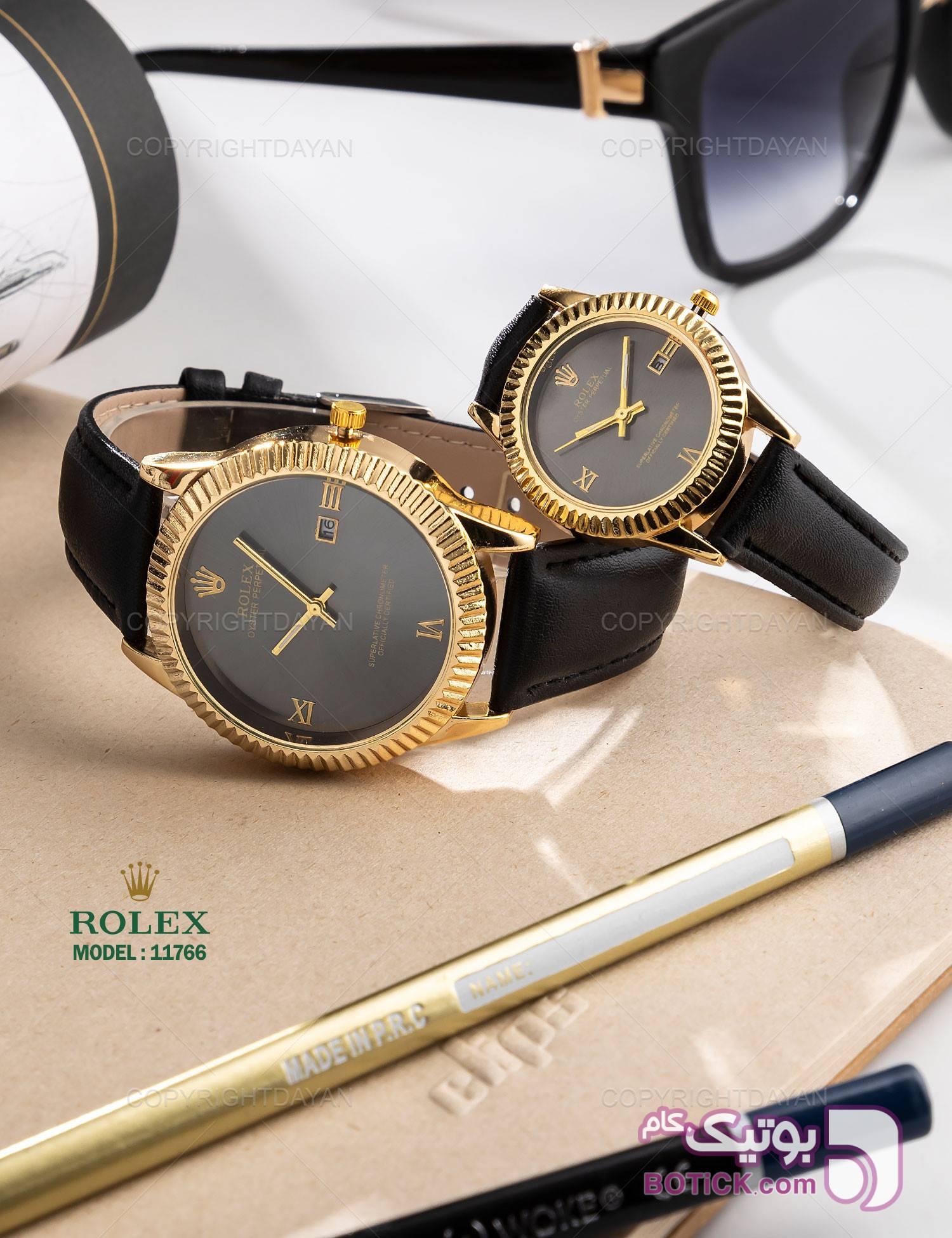 ست ساعت مچی Rolex مدل 11766 مشکی ساعت