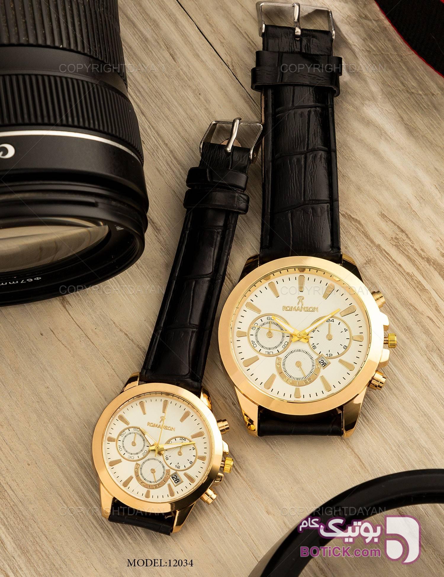 ست ساعت مچی Romanson مدل 12034 مشکی ساعت
