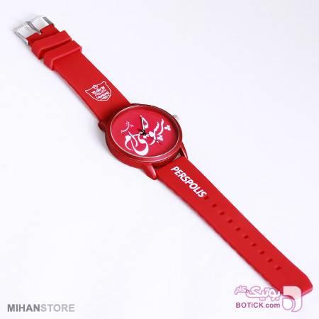 ست ساعت و دستبند طرح پرسپولیس قرمز ساعت